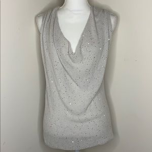 Eileen Fisher Sequin Sweater Tank Small